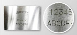 レーザー刻印の見本例